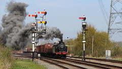 Past the Signals (Duck 1966) Tags: train goods steam signals locomotive swithland gcr jinty timelineevents