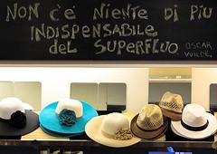 Shopping di citazioni (chiarafratocchi) Tags: shopping strade negozi accessori cappelli comprare citazioni superfluo