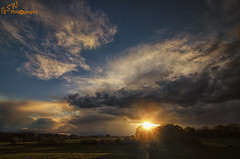 Sunset after the storm (Gavmonster) Tags: blue trees sunset sky orange storm weather silhouette clouds landscape nikon wideangle land kneppcastle stormchasing stormchaser 1024mm d7000 nikond7000 gswphotography