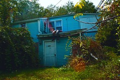Smoke House 666 (Anton Redding) Tags: blue gay summer urban house abandoned overgrown photography alone photographer body smoke 666 smoking adventure anton redding abandonment adventurer urbex urbexing