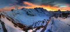 Gornergrat Sunset Panoramas (hapulcu) Tags: winter sunset alps schweiz switzerland suisse suiza dusk gornergrat zermatt matterhorn svizzera wallis valais cervinia cervin