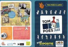 TOM POES 75 (streamer020nl) Tags: holland museum tom cat comics kat chat exhibition scan years katze nl groningen leaflet 75 puss folder poes strips 1941 bommel jaar expositie 2016 stripmuseum toonder stripverhaal 230316