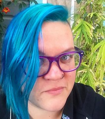 And the dragon mane is back. This time, the entire Mohawk is shades of turquoise, teal, blue, and green. #colorful #hairdye #teal #turquoisehair #selfie @zennioptical #glasses (ClevrCat) Tags: blue green hairdye this glasses is back colorful dragon time turquoise teal shades mohawk and entire mane selfie turquoisehair zennioptical instagram ifttt