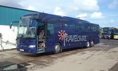 Travelsure Mercedes BJ16 KYG (hly524v) Tags: mercedes northumberland mercedesbenz tourismo belford triaxle travelsure mercedestourismo nebuses bj16kyg