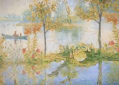 Cradle song. (BirgittaSjostedt.) Tags: flowers reflection art nature river painting landscape outdoor creation fantasy serene ie paitn magicunicornverybest birgittasjostedt