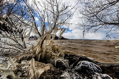 The Last Big Blow (KennyG-String) Tags: longexposure cold ice beach marina landscape waves naturallight lakeontario midday stcatherines portdalhousie niagararegion