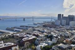 San Francisco - Oakland Bay Bridge (Mikhail Zhidko) Tags: california travel bridge usa tower skyline oakland golden bay gate san francisco view coit