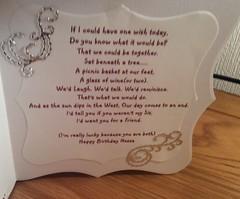 Verse inside card. (margaret.pilkington47) Tags: handmade sister special wishes birthdaycard verse