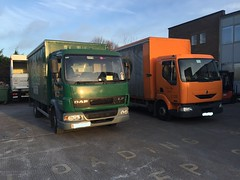 Brewery DAF & Renault (Coco the Jerzee Busman) Tags: ford beer truck ale renault lorry brewery jersey van liberation daf