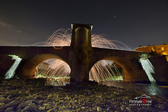 notturno-ponte nove (improntediluce15) Tags: bridge art wool night steel fiume spinning effect venezia notte scintille