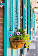"Teal Shutters and Window Box • <a style=""font-size:0.8em;"" href=""http://www.flickr.com/photos/29084014@N02/26309014361/"" target=""_blank"">View on Flickr</a>"