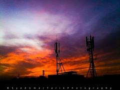 Catching skyfire. (Umer Tarik) Tags: pakistan sunset sky love photography shot moment capture karachi photogrid