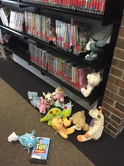 Let's watch this one! (scotchplainspubliclibrary) Tags: animal stuffed sleepover scotchplains scotchplainspubliclibrary