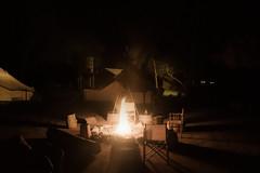 Se acaba un gran da (y una gran noche) (palm z) Tags: parque france noche llama silla fuego francia campamento sombras sillas hoguera plantesauvage