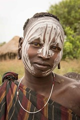 Mursi Tribe, Ethiopia (Rod Waddington) Tags: africa people woman face outdoor african painted traditional valle tribal afrika omovalley ethiopia tribe ethnic mago mursi afrique ethiopian omo etiopia ethiopie etiopian