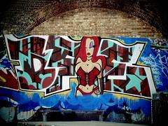 Graffiti, Mile End Skate Park (firstnameunknown) Tags: urban streetart london art graffiti mural skatepark jessicarabbit mileend camerabag eastlondon camerabag2