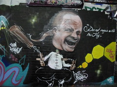 Gnasher graffiti, Leake Street (duncan) Tags: graffiti jay gnasher leakestreet