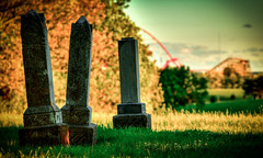 Full Spectrum of Emotion (Thomas R Gail) Tags: park amusement scary cemetary headstones graves creepy theme rides hdr