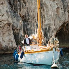 Sailor at Calanques de Marsella (Jess Albarrn Ords) Tags: france sailor provence francia calanques yatch provenza marsella marinero yate