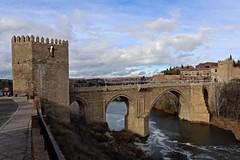 Puente de Alcantara (Juliotrlima) Tags: madrid bridge espaa canon spain espanha ponte toledo tagusriver rotajo 2470mm madri markiii romanbridges castillodesanservando puertadealcntara puenteofalcntara thepuentedealcntara