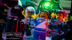 Intruder Alert 11 - Stick em Up! (agaethon29) Tags: macro toy lego space scifi spaceman sciencefiction minifig minifigs cinematic minifigure 2016 ncs minifigures blacktron toyphotography intruderalert legospace classicspace futuron neoclassicspace legophotography legography novateam brickography