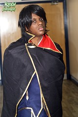 IMG_8333 (Neil Keogh Photography) Tags: red black anime gold pants cosplay coat manga jacket cosplayer bluewhite caper manle manchesteranimegamingcon2016