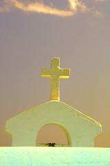 Light (Tony Shertila) Tags: travel sky weather geotagged golden europe day glow cross outdoor religion tourist clear greece crete grece curch grc agiosnikolaos christion agiaparaskevi geo:lat=3518829042 geo:lon=2571979076