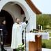 Illésy Mátyás, a százhalombattai Szent László templom plébánosa szentelte fel az új Szent György kápolnát Domonyvölgyben
