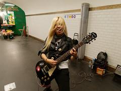 Metal girl in the parisian metro