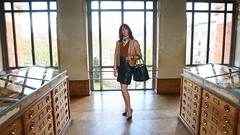 Day @ the museum / Une journe au muse (french_lolita) Tags: brown black leather skirt jacket