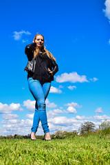 Kim Lobbezoo 18 (M van Oosterhout) Tags: portrait people woman sun lake holland cute netherlands girl beautiful face fashion female clouds model pretty photoshoot modeling stunning editorial