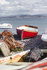 Red Boat (Roj) Tags: uk sea beach wales landscape fishing rust bokeh harbour cymru pebbles rope shallowdof anglesey redboat moelfre canon5dmkii sigma85mmf14exdghsm originalphotographer ynymn photographersontumblr originalphotographers sourcerojsmithtumblrcom
