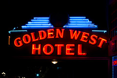 Golden West Hotel (maisa_nyc) Tags: california ca sign hotel neon sandiego gaslamp goldenwesthotel