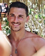 IMG_0898 (danimaniacs) Tags: shirtless man sexy guy smile beard mexico muscle muscular hunk jewelry puertovallarta stud scruff
