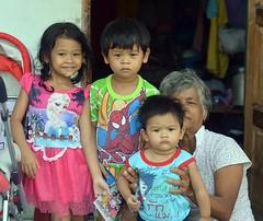 children with grandma (the foreign photographer - ) Tags: grandma portraits children thailand three nikon bangkok doorway bang bua khlong bangkhen d3200