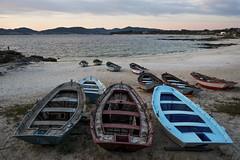 Las Barcas Beach (A.Gonzlez) Tags: sea espaa seascape beach landscape boat mar spain sand barca playa paisaje arena galicia barcas pontevedra vigo riasbaixas rias