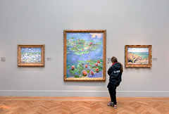 2016-01-02 seeing water lilies (Robert Couse-Baker) Tags: sanfrancisco woman art wall painting gallery daughter waterlilies monet oil 365 2016 nymphéas