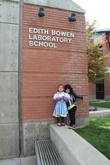 Olsen and Jovie in Halloween costumes at school 3 (Aggiewelshes) Tags: halloween dorothy october halloweencostume olsen jovie 2015 edithbowen skeletonrocker