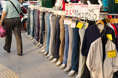 Sale (Evens & Odds) Tags: street price discount beige pants pavement walk tag pedestrian trousers align