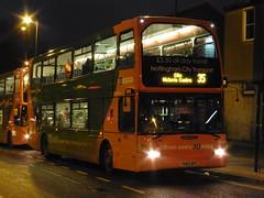 Nottingham City Transport 675 YN05 WFC (JIG2164) Tags: nottingham east 35 scania nct lancs 675 bulwell omnidekka n94ud yn05wfc
