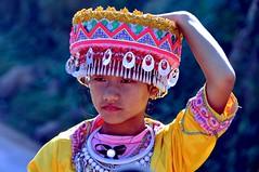 Laos-Hmong girl- festival hmong near Phongsali (Explore) (venturidonatella) Tags: portrait people girl asia faces persone laos colori ritratti ritratto gentes hmong nokin volti faccia d300 minorities volto minoranza phongsali nikond300 hmongfestival