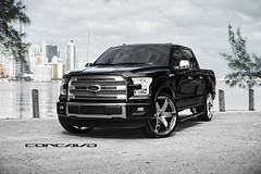 "Ford F150 Platinum on 26"" Chrome CW6 (Concavo Wheels) Tags: usa ford truck florida miami wheels f150 chrome rims platinum concave concavo cw6 deepconcave concavowheels teamconcavo concavenation"
