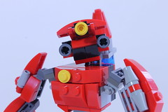 The Firefighter (BigDamnHero2511) Tags: red lego robots firefighting firefighter mecha mech moc smallscale miniscale