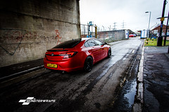 Vauxhall Insignia Dragon Fire red wrap (Sean at Monsterwraps Ltd) Tags: wrapped wrap insignia lowered vauxhall slammed stance vx fitted vxr carwrap carwraping monsterwraps wrappedworld wrappedlife wrappedsociety carsinwraps