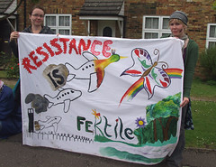 Climate Camp 2007: Resistance is Fertile (Ric Lander) Tags: heathrow august baa 2007 campaigning peopleandplanet climatecamp climatecamp2007 panda24601