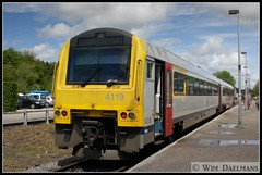NMBS / SNCB 4119 Couvin 15052013 (W. Daelmans) Tags: train diesel alstom nmbs 4119 sncb ar41 mw41
