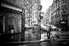 il pleut - raining (Jack_from_Paris) Tags: street leica bw dog chien la angle noiretblanc wide pluie rangefinder m il type monochrom capture raining mode 240 lightroom reu dng pleut 10770 11879 balayeur nx2 tlmtrique leicasummicronm35mmf2asph l2000268bw