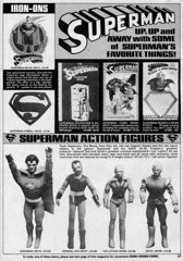 Superman merchandise, 1981 (Tom Simpson) Tags: vintage comics advertising toy actionfigure ad superman advertisement 1981 1980s ironon vintagead lexluthor generalzod