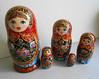 Nesting dolls matryoshka with painting  in russian style handmade (Artworkshop1) Tags: doll handmade babushka matryoshka khokhloma