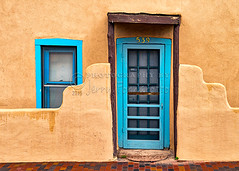Santa Fe Door 539 (Jerry Fornarotto) Tags: poverty door old house newmexico santafe southwest building brick texture window wall architecture outdoors paint exterior turquoise rustic pueblo poor neglected entrance adobe weathered tradition planter textured deteriorating residentialstructure jerryfornarotto aurorahdr